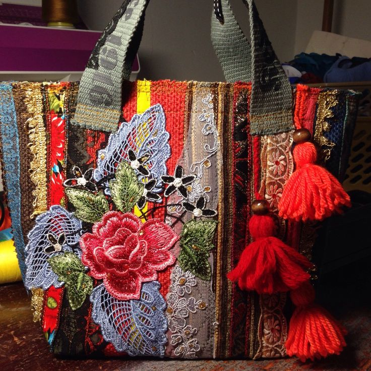 Colorful summer purse for true boho girls