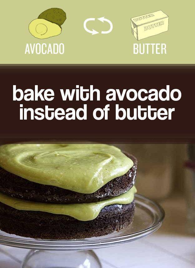 Troque manteiga por abacate esmagado.