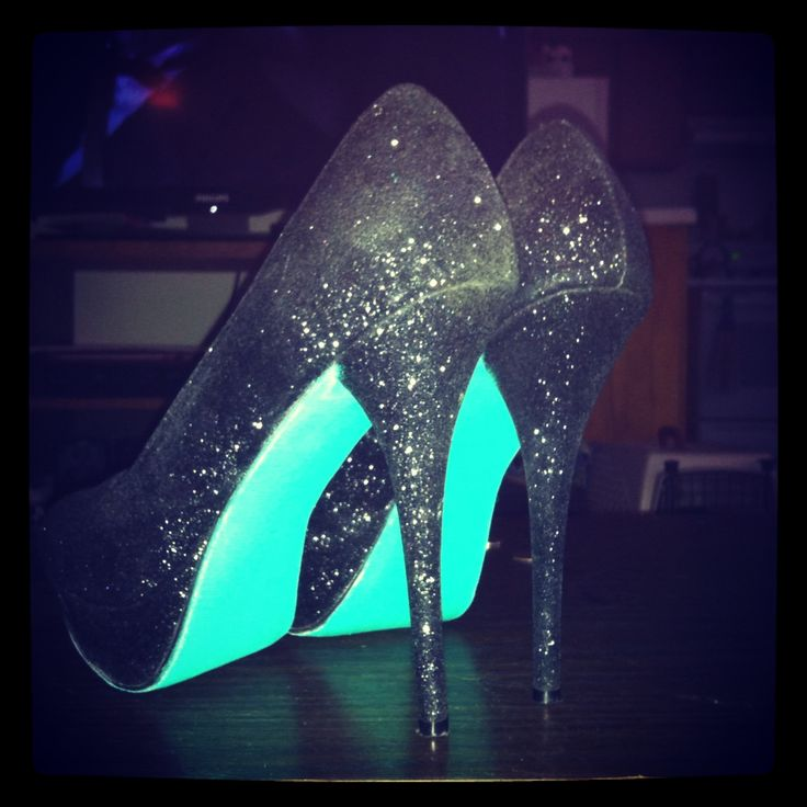 #highheels #cute #blue #teal #black #sparkles #glitter