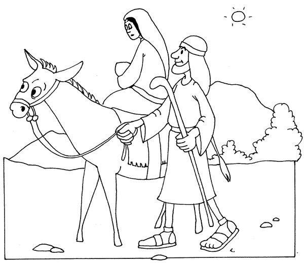 flight into egypt coloring pages - photo#8