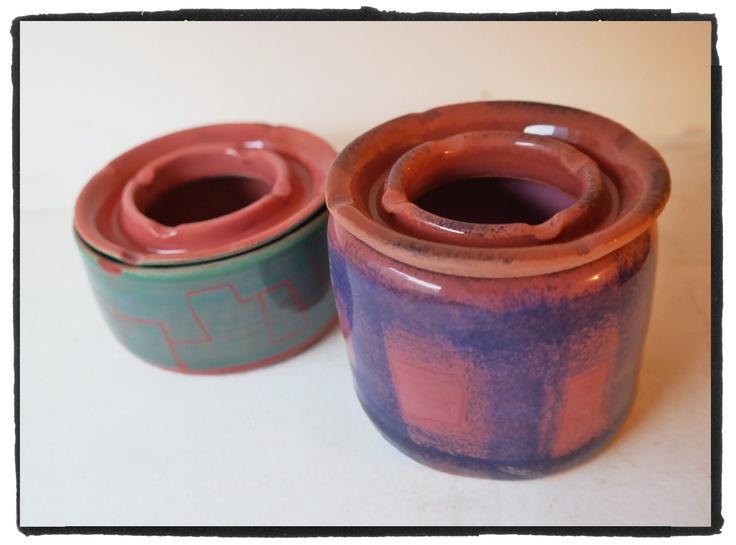earthenware ashtrays