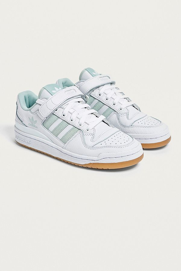 adidas Originals Baskets basses Forum blanches et vert