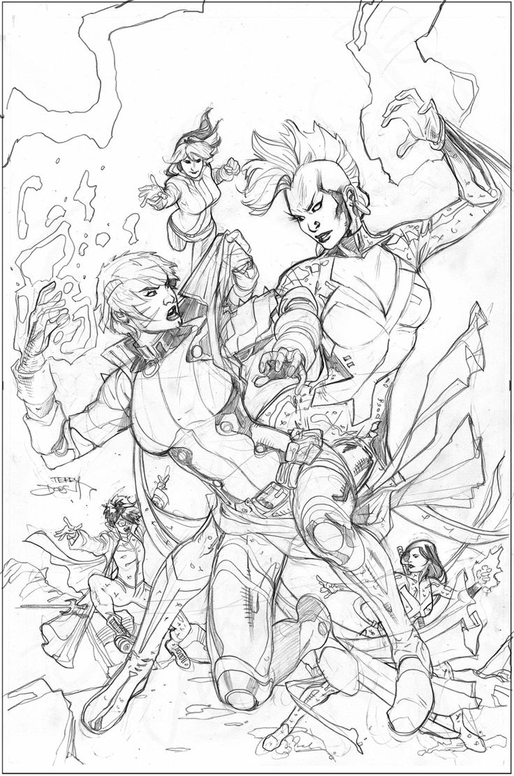 X-Men #5 Variant Cover Pencil by TerryDodson.deviantart.com on @deviantART