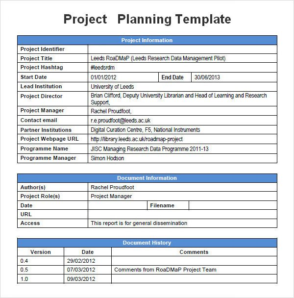 Sample Project Plan Template Project Proposal Template Project Planning Template Proposal Templates