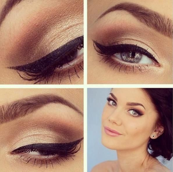 Wedding Makeup Winged Eyeliner : Subtle and classy but still makes a statement. makeup ...