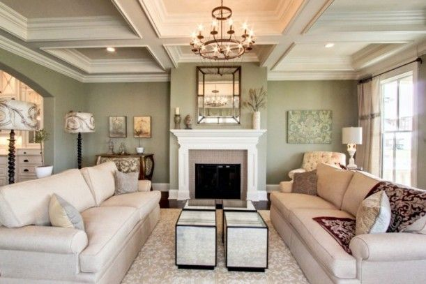 Southern living model at norton commons fireplaces living rooms