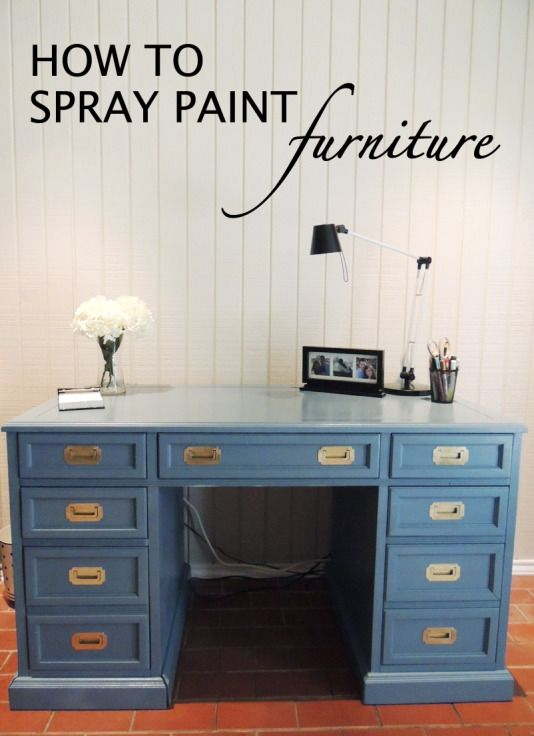 Spray Painted Furniture...Awesome his/hers POV's with detailed pics and instructions.