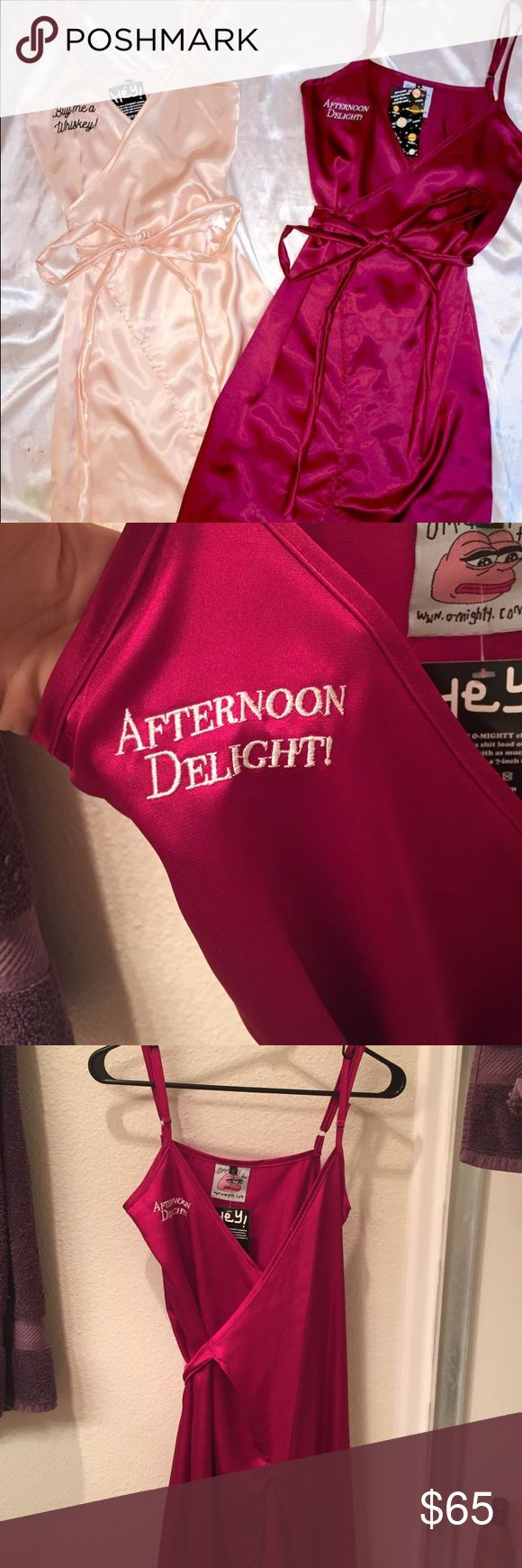 O-Mighty Afternoon Delight Wrap Dress O-Mighty Afternoon Delight wrap dress maroon in perfect condition. New with tags. Size Small. I'm short and just didn't like the length for my body. O-Mighty Dresses Midi