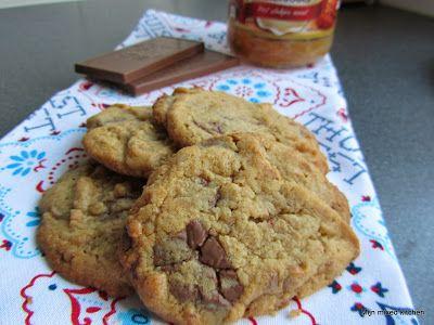 Mijn mixed kitchen: Chewy koekjes met pindakaas en chocola