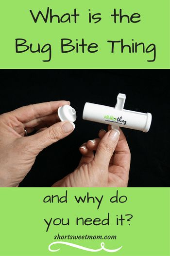 What is the Bug Bite Thing and why do you need it?. Visit shortsweetmom.com and find out why this natural bug bite treatment is a must have for your family.