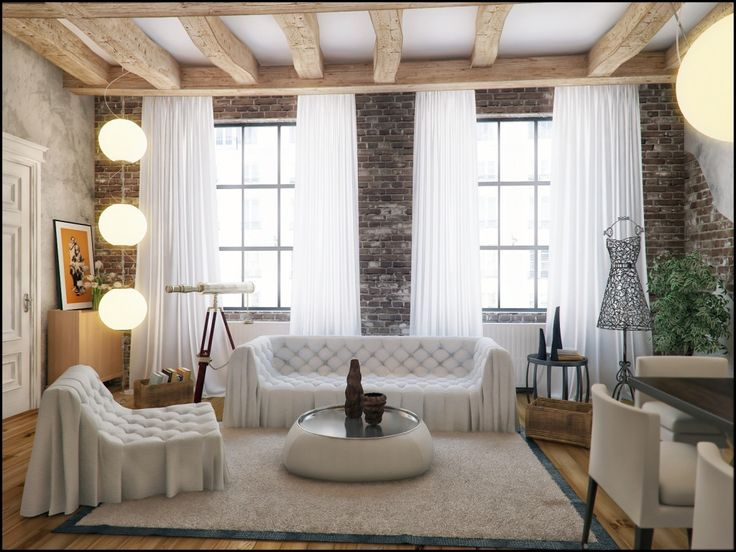 white loft style decor at contemporer cool living room with classic design white decor with browngreen accents pinterest loft style and lofts
