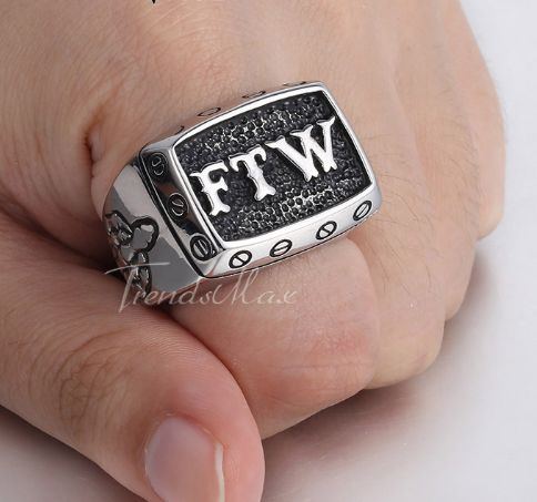 Stainless Steel FTW Ring – Rings of Anarchy