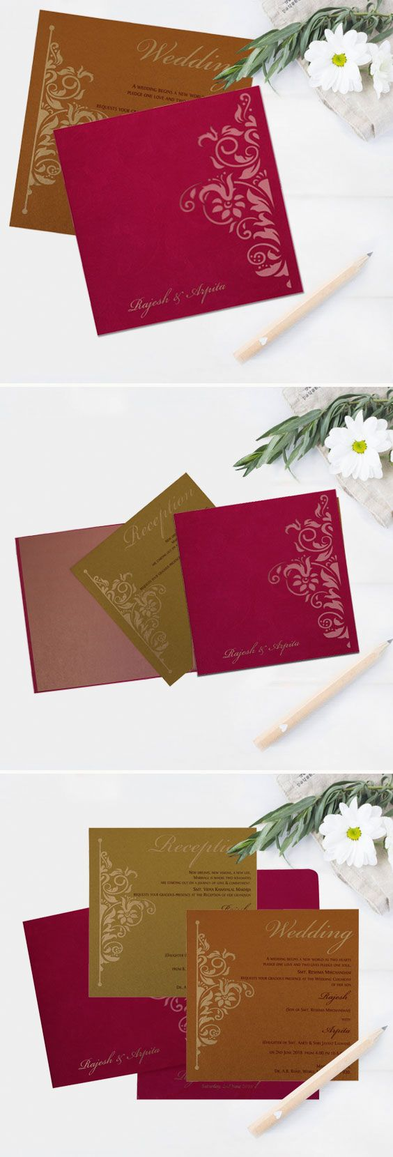 88 best Indian Wedding Invitations | 123WeddingCards images on Pinterest