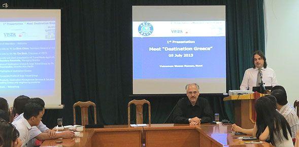 Παρουσίαση του Ελληνικού τουριστικού προϊόντος σε τουριστικά γραφεία εξερχόμενου τουρισμού στο Ανόι του Βιετνάμ