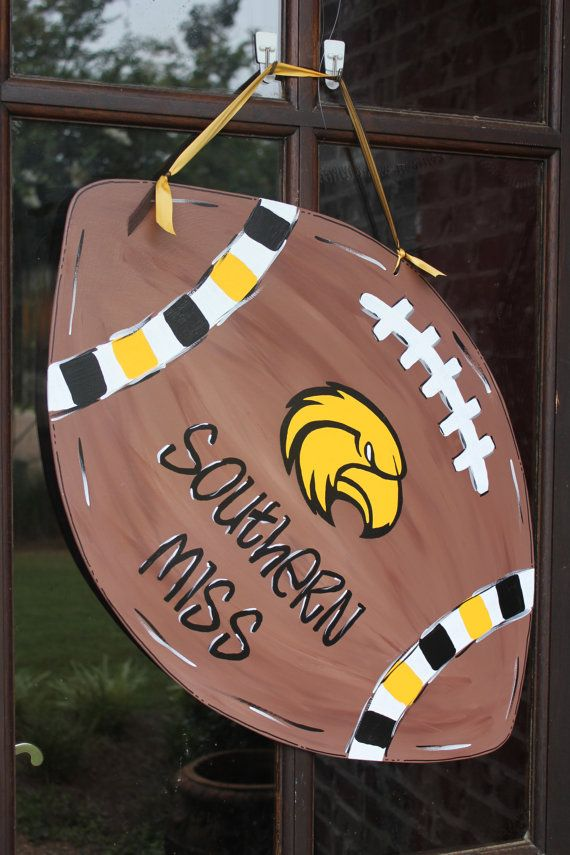 Wood University of Southern Miss Football by ASouthernCreation, $45.00