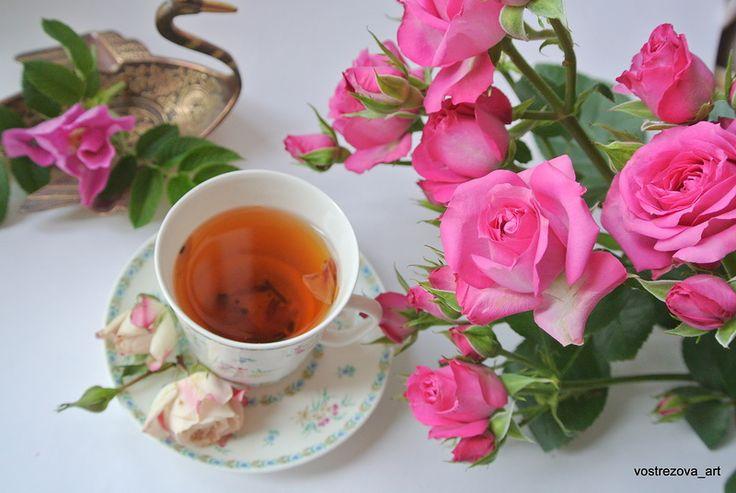 Маленькая хозяйка большой палитры - ЖЖ чаепитие по средам! Сегодня пьем розовый чай!