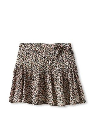 65% OFF Gil & Jas Girl's Floral Skirt with Bow (Black)