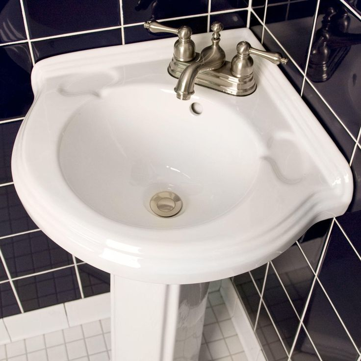 Gaston Corner Pedestal Sink - Bathroom