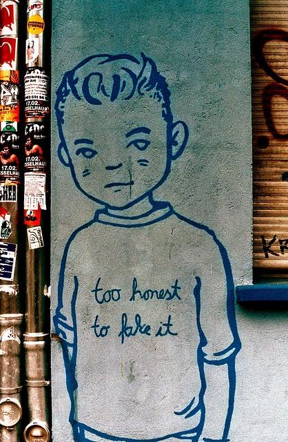 To Honest To Fake It, Berlin!  Unknown Artist!