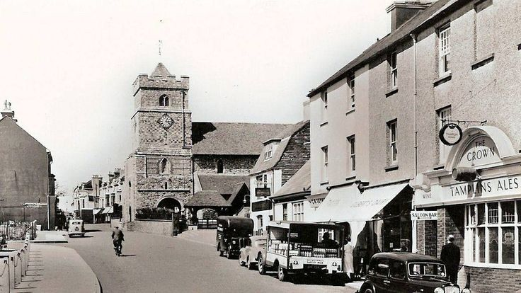 Church Street Seaford 1950s ( Note no buildings on the left hand side later to become the Post Office and Police Station )