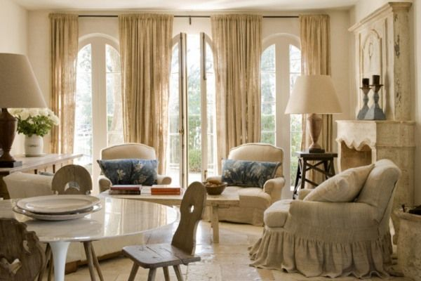 love the linen club chair ~: Blue Accent, Beauty Rooms, Tall Windows, Living Rooms, French Doors, Decoration Idea, Interiors Design, Homes Decoration, Nature Color