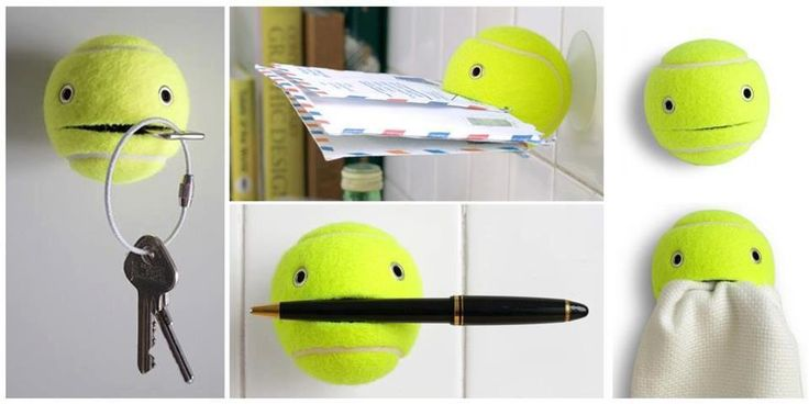 Tennis ball things holder: Tennis, Craft, Ball, Ideas Para, Diy, Tennis Balls, Crafts, Tennis Ball