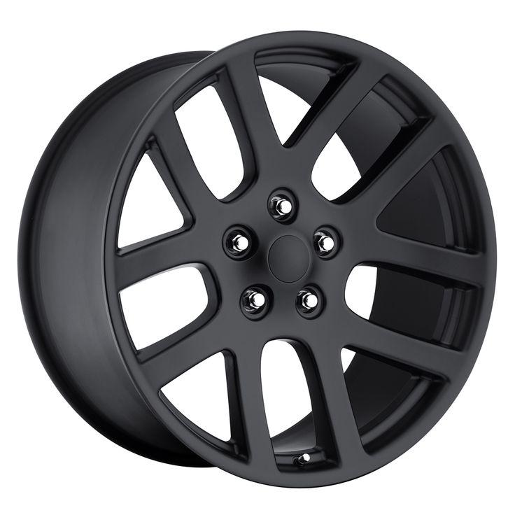 Dodge Ram 1998-2010 22x10 5x5.5 25.4 - SRT10 Replica Wheel - Satin Black With Cap
