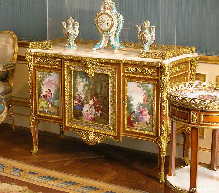 Commode De Madame Du Barry   Louvre Museum   Original Artist :  Jean Baptiste Pater