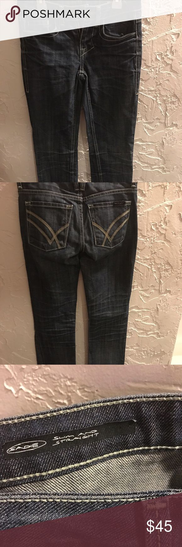 William Rast Jeans size 23. Just like new dark wash William Rast Jeans. Super high quality pair of jeans that just don't fit right anymore. Super good fabric. No tears or stains. William Rast Jeans Straight Leg