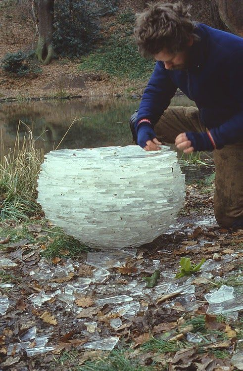 Natural sculptures by Andy Goldsworthy.