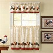 Awesome Kitchen Curtains Sets #1 Country Rooster Kitchen Curtain Valance