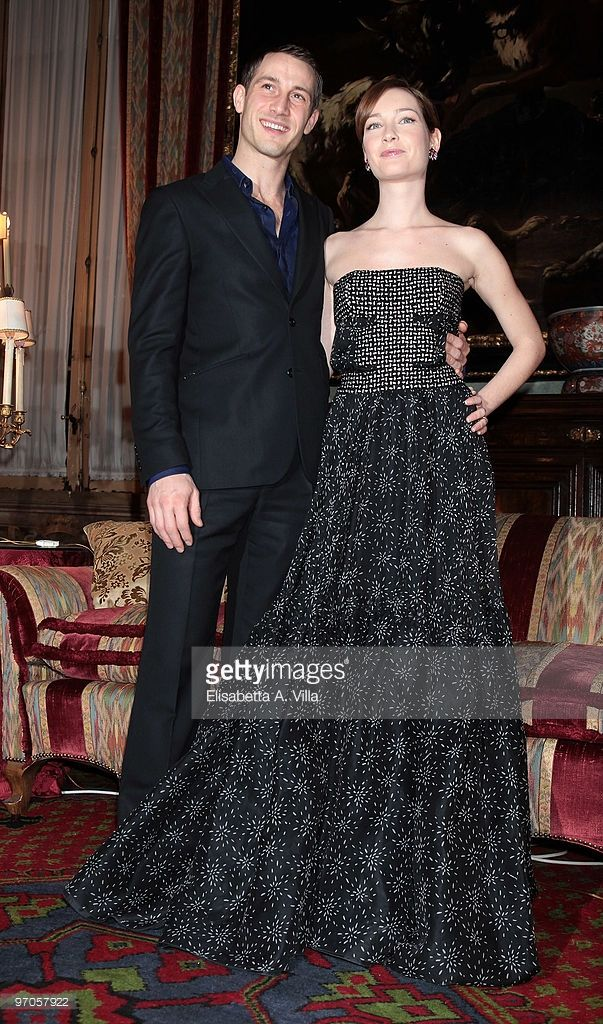 Actors David Rott (L) and Cristiana Capotondi attend 'Sissi' photocall at Palazzo Taverna on February 25, 2010 in Rome, Italy.