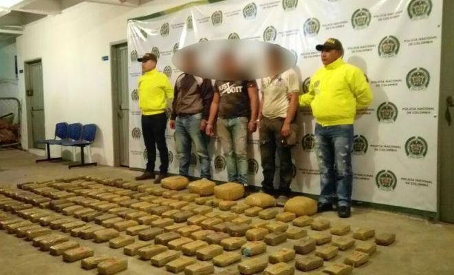 incautado cargamento de 103 kilos de marihuana