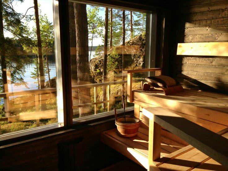 Finnish summer cabin sauna
