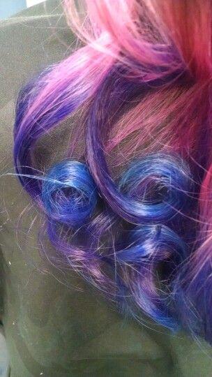 Pretty ombre curls I did