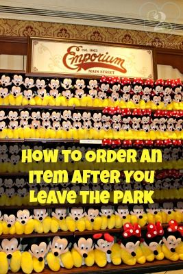 Wish you'd bought something you saw while at Disney World? There is a way! (A note in the comments area states that the phone number to call has been changed).