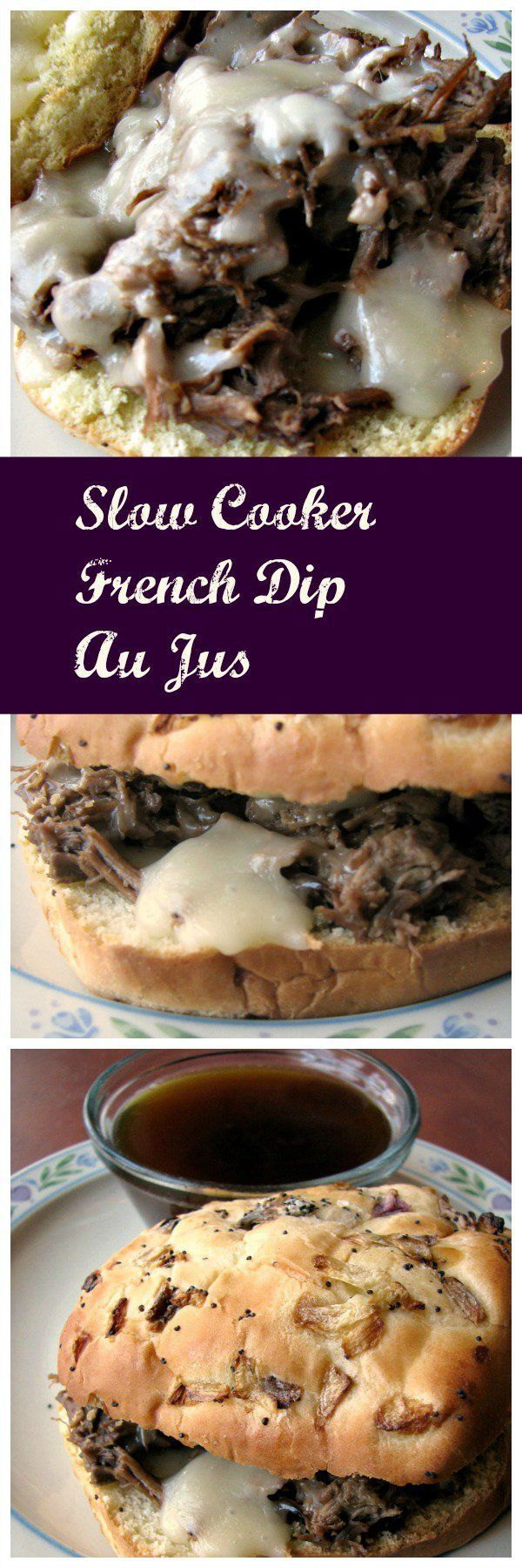 The classic recipe made easy! This Slow Cooker French Dip Au Jus takes just a few minutes to prepare, and is full of flavor. Grown-ups and kids will love this classic sandwich made at home!
