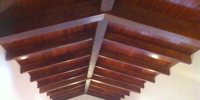 THERMOCHIP® IROKO, paneles de madera de gama alta para una vivienda de Valencia | #madera #paneles #iroko #decoracion #techos #arquitectura