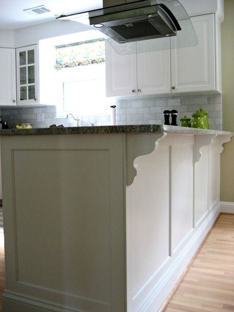 Custom island trim for Ikea cabinets plus lots of other tips on how to customize Ikea cabinets