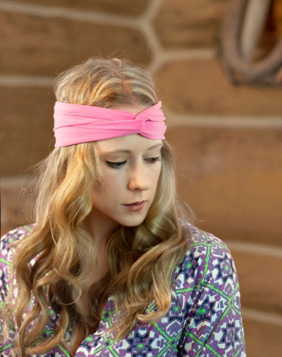 Womens Turban Headband, Twist Headband Pink Headband, Twisted Headband, Exercise Stretch Women's Workout Head Wrap Yoga Gift for Her