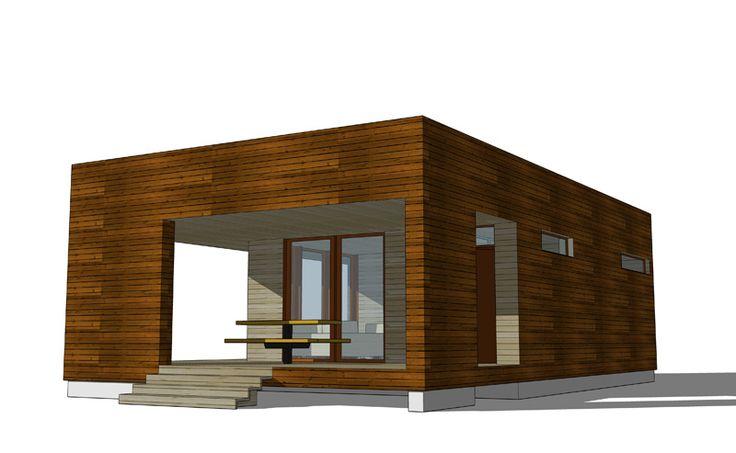 Проект бани с террасой. АФ-студия. Новосибирск. Архитектор: Дмитрий Антонов.