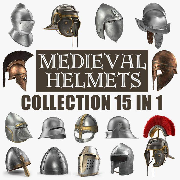 Medieval Helmets Collection 3D model