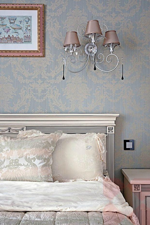 Papel de parede clássico para quarto de casal