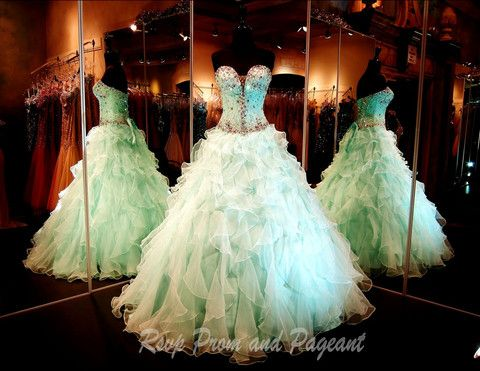 100JP010150475-MINT with Panel - This Ball Gown Is absolutely STUNNING and only at Rsvp Prom and Pageant... http://rsvppromandpageant.net/collections/ball-gowns/products/100jp010150475-mint-with-panel