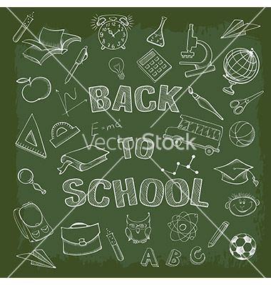 Back to school vector by Pazhyna on VectorStock®
