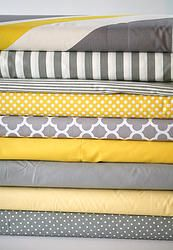 Stokke & crib fitted sheets - gray & yellow. #gray