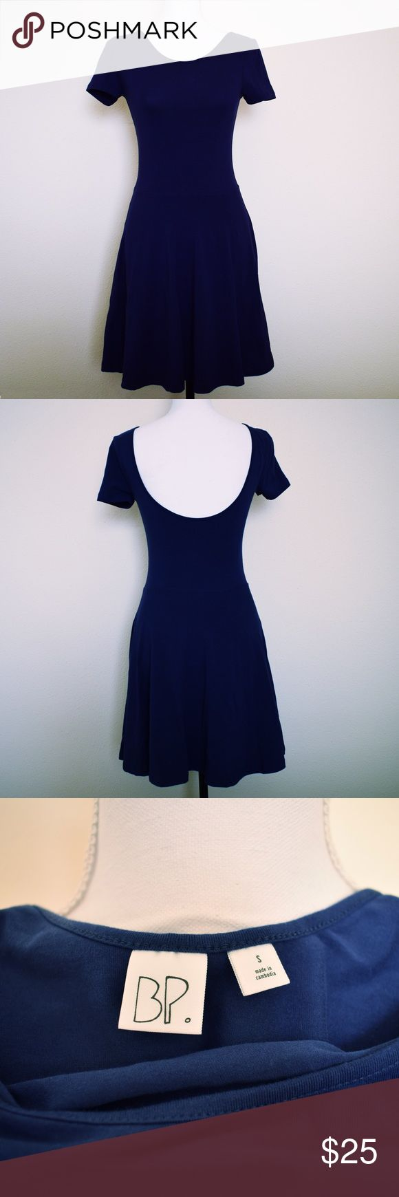 NWOT BP Navy Skater Dress Brand new and never worn! Super stylish and a perfect staple for any closet! This gorgeous navy dress is a size small.   Measurements:  14 in across shoulder to shoulder  31.5 in long 26 in around waist Nordstrom Dresses Mini
