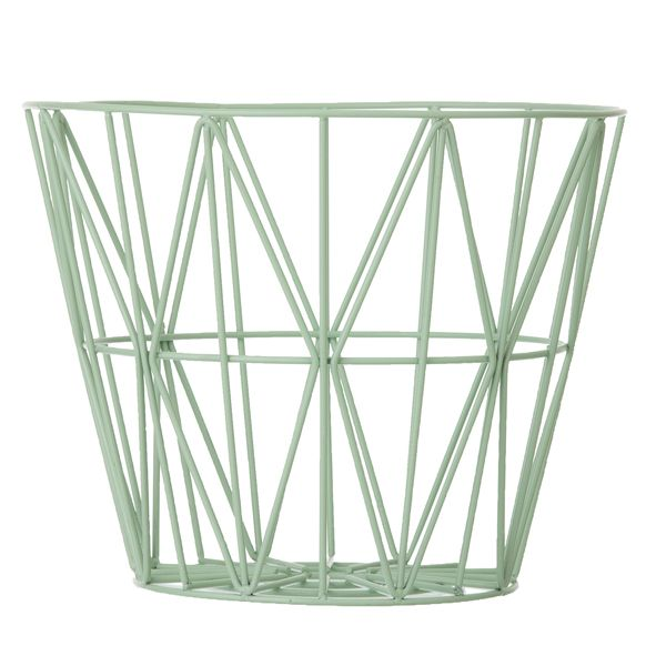 Wire basket, mint