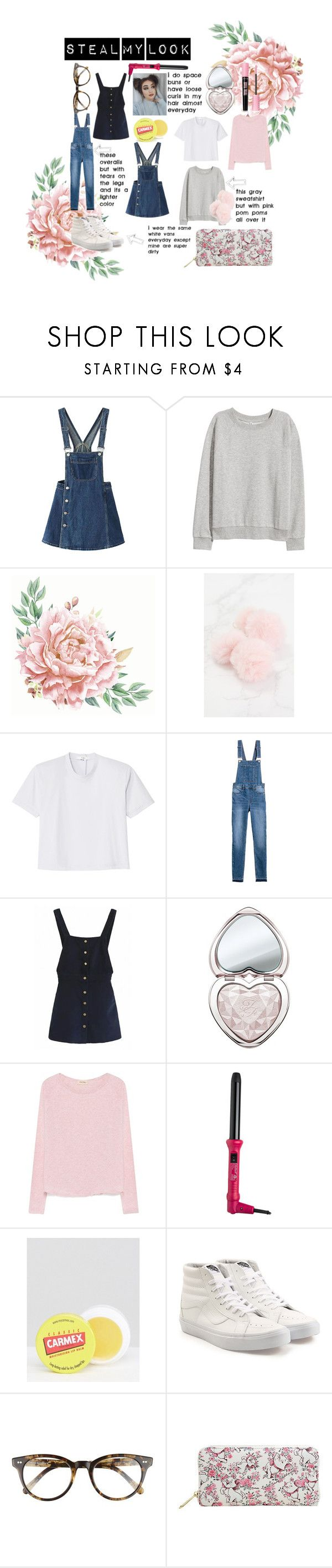 """steal my look <3"" by reagan-e-alexander on Polyvore featuring WithChic, H&M, TIBI, Too Faced Cosmetics, American Vintage, Royale, Carmex, Vans and Corinne McCormack"