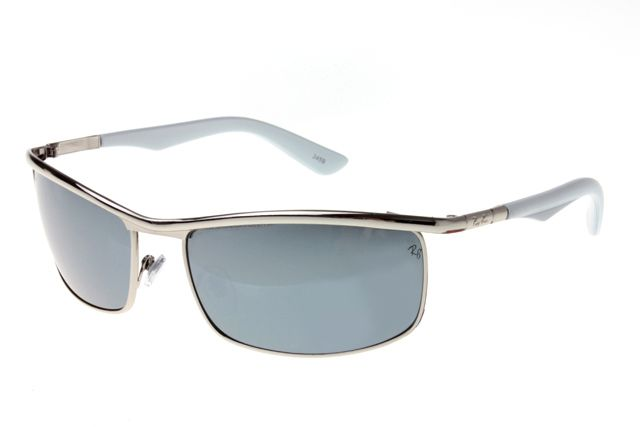 Ray Ban Active Lifestyle RB3459 Sunglasses Gunmetal/White Frame Gray Lens
